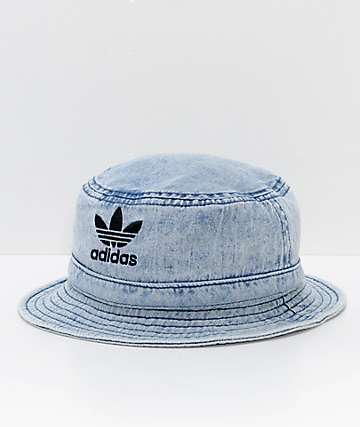 adidas Originals Light Blue Washed Denim Bucket Hat