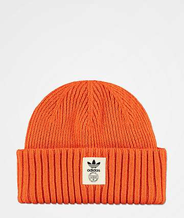 adidas Originals Orange & Off-White Beanie