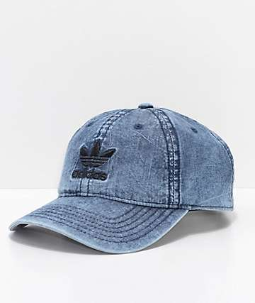 adidas Originals Relaxed Denim   Black Strapback Hat fcbe7d10a354