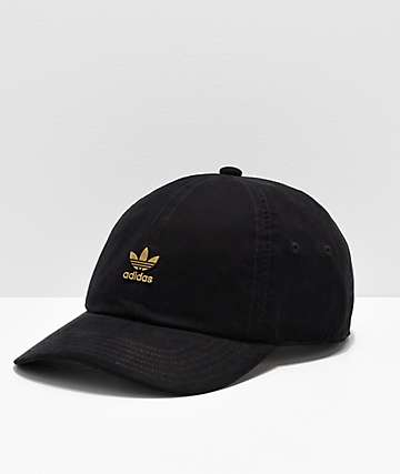 adidas Originals Relaxed Metal Black   Gold Strapback Hat bedcb0cda67