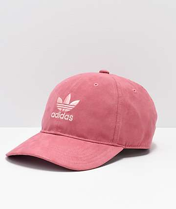 0182082dac6 adidas Originals Relaxed Plus Maroon   Coral Strapback Hat