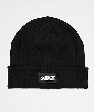 adidas Originals Ribbed Black Beanie