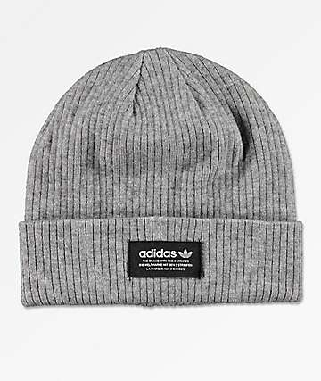 adidas Originals Ribbed Grey Beanie