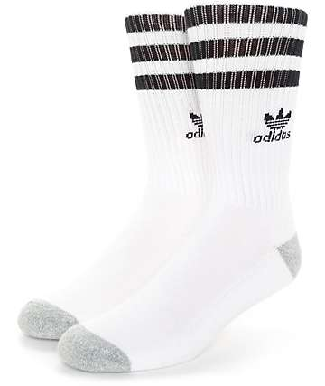 adidas Originals Roller White & Black Crew Socks