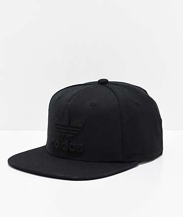 adidas Originals Trefoil Chain Black & Black Snapback Hat