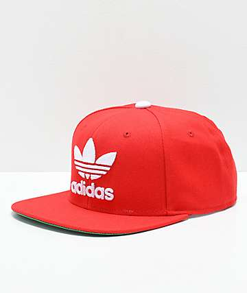 adidas Originals Trefoil Chain Scarlet Snapback Hat