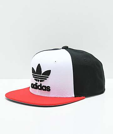 adidas Originals Trefoil White, Black & Red Snapback Hat