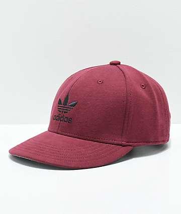 adidas Originals Trefoil gorra de color borgoño