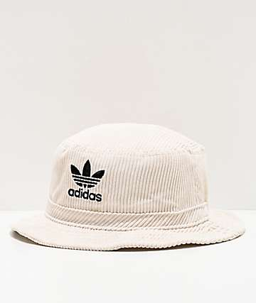 adidas Originals White Corduroy Bucket Hat
