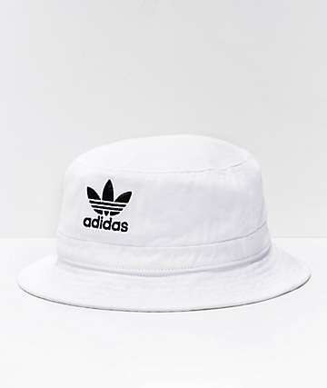 adidas Originals White Denim Bucket Hat