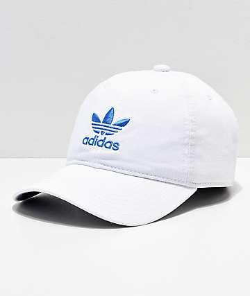 adidas Originals gorra blanca y azul para mujeres