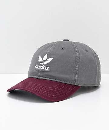adidas Originals gorra gris y color borgoño
