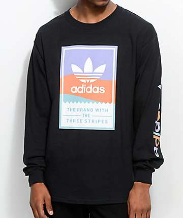 adidas Pastel Classic Black Long Sleeve T-Shirt