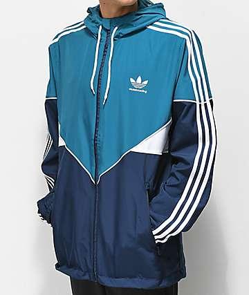 adidas Premiere chaqueta cortavientos azul