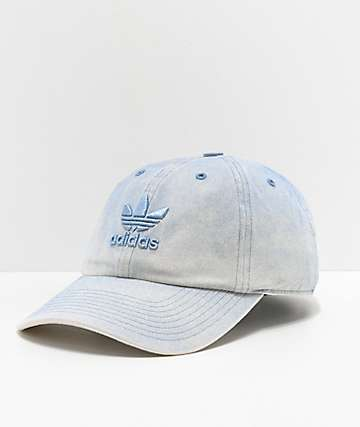 adidas Relaxed Overdyed Blue Strapback Hat