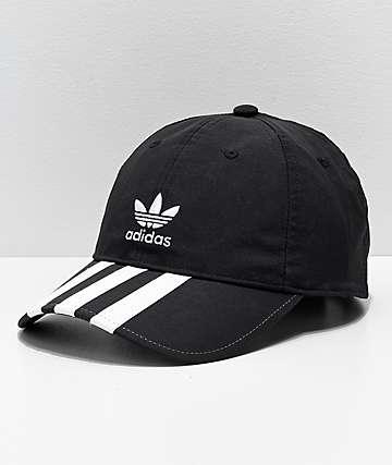 adidas Relaxed gorra negra con rayas para hombres