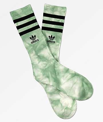 adidas Roller Ash Green Tie Dye Crew Socks