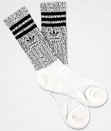 adidas Roller Prime White & Black Crew Socks