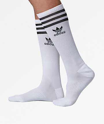 adidas Roller White Knee Socks