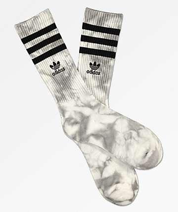 adidas Roller calcetines blancos y negros con efecto tie dye