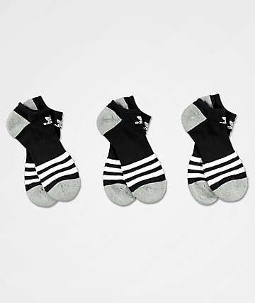 adidas Roller calcetines invisibles negros, blancos y grises