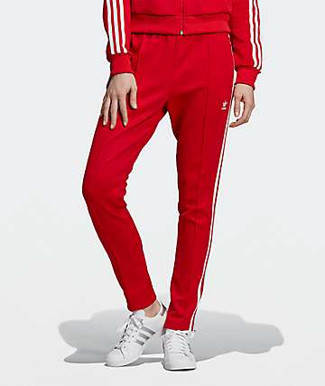 adidas SST Scarlet Red Track Pants