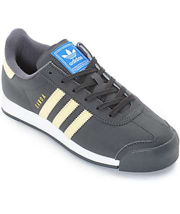 adidas Samoa Dark Grey, Yellow & White Shoes