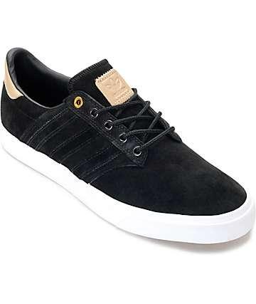 adidas Seeley Premium Class zapatos en negro y color natural