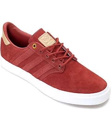 adidas Seeley Premium Class zapatos en rojo y color natural