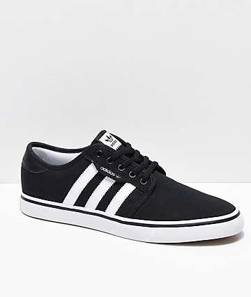 adidas Seeley zapatos negros y blancos