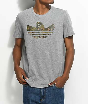 adidas Shmoo Camo Athletic Grey T-Shirt