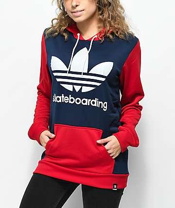 adidas Skate Red, White & Blue Hoodie