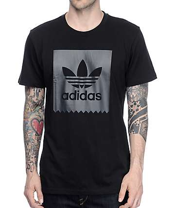 adidas Solid Blackbird Black T-Shirt