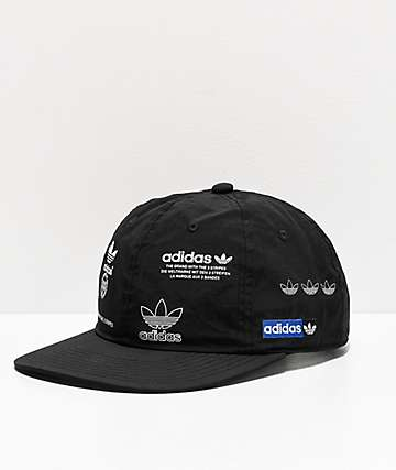 adidas Stamp Black Strapback Hat