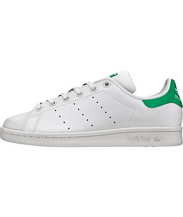 adidas Stan Smith White & Green Shoes (Kids)