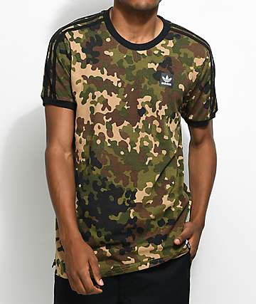 adidas Striped Camo T-Shirt
