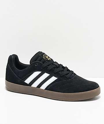 adidas Suciu ADV II zapatos negros y blancos de goma