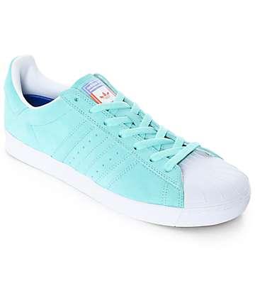 adidas Superstar Vulc ADV zapatos en verde pastel