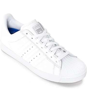 adidas Superstar Vulc ADV zapatos totalmente blancos