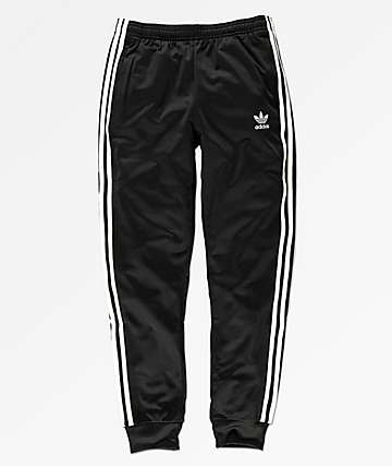 adidas Superstar pantalones deportivos negros para niños