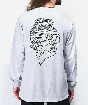 adidas Sweethands Grey & Black Long Sleeve T-Shirt