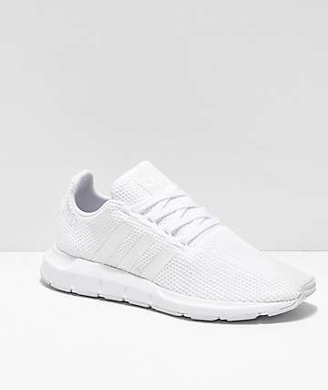 adidas Swift Run All White Shoes
