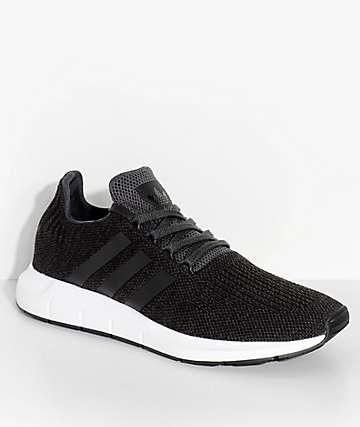 adidas Swift Run Black & White Shoes