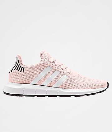 adidas Swift Run Icey Pink, White & Black Shoes