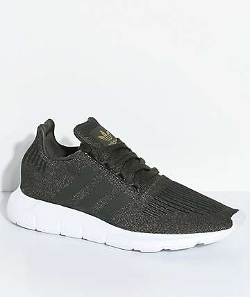 adidas Swift Run Night Cargo zapatos verdes y blancos