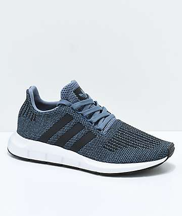 adidas Swift Run Raw Speckled Steel zapatos en gris y blanco