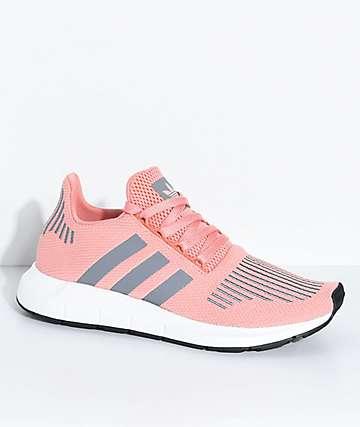 adidas Swift Run Trace zapatos rosas y grises