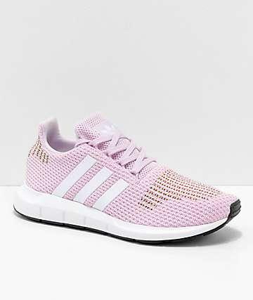 adidas Swift Run zapatos en rosa, blanco y multicolor