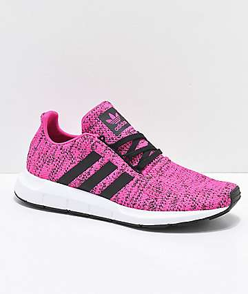 adidas Swift Shock Core zapatos negros y rosas