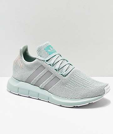 adidas Swift Vapor Green & Rose Gold Shoes